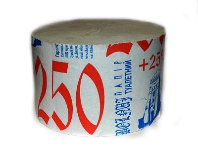 "Бумага туалетная ТМ ""Волинь"" 250серый*рулон24 шт.90±2140±2300±100,150Евро"