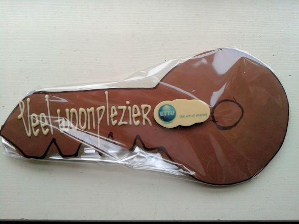 Personalisering van uw chocolade door uw logo, een heerlijke manier van reclame maken.