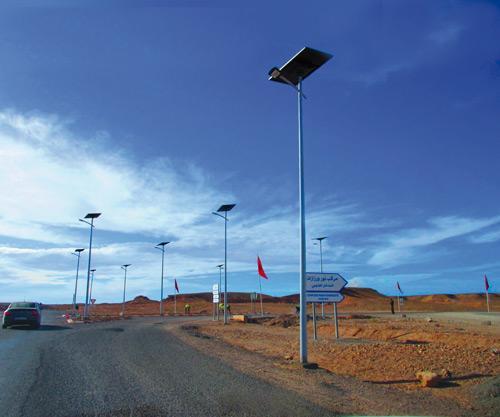 Eclairage route à Ouarzazate Maroc