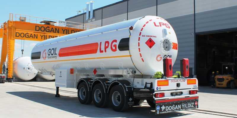 Semi Trailer For LPG transporting.