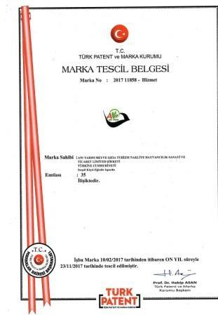 "Our trademark ""Anı"" has been officially registered."