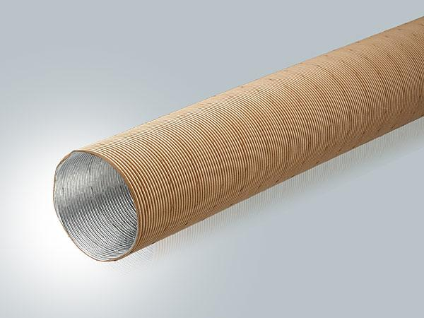 Flexible tube for common warm air Routing in Caravan and motorhome heating Systems.