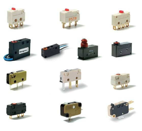 Schalter - Motoren- Solenoids      Schalter (Mikro-, Dreh-, Schiebe-, Wippen-, Leuchtdruckschalter, -taster)     Frontplattenschalter / -taster (Leuchtdruck-, Mikro-, Schlüssel-schalter)