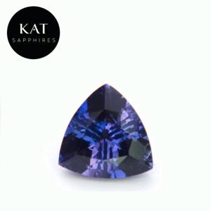 Beautiful 1.31ct Unheated Trillion Cut Bi-Color Madagascar Sapphire. Amazing combination of Blue and Purple in this stone!