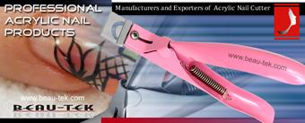 Manufacturers & Exporters of  Acrylic Nail Cutters, Pet's Paws Nail Cutter, Tip Cutter, Heavy Duty Nail Cutter, Mirror Finishing, Powder Coating, Titanium Plasma Coated, Blue Plasma Coated, Gold Platt