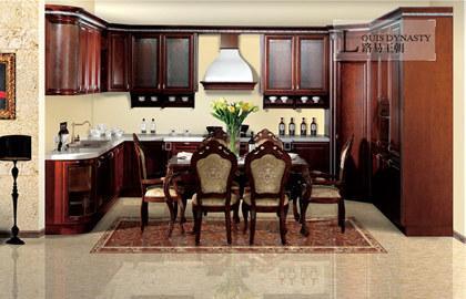 Classic design wood kitchen cabinet