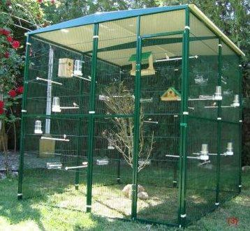 Modular aviary. 2x2x2 meters.