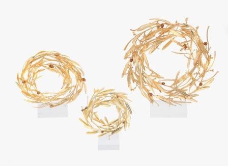 Impressive pieces beautifully handmade from real olive branches.