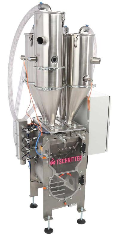 Batch dosing systems 200-700kg/h • highly precise Gravimetric Dosing • different models for compounding, extruding and blow-moulding