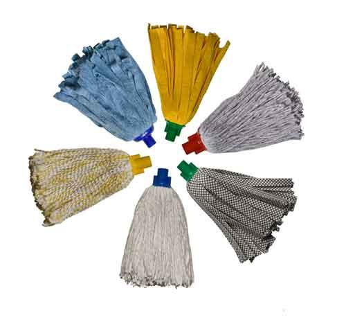 mop sockets in several colours, cotton yarn socket mops, yellow strips socket mops, universal strips socket mops, higienic strips socket mops, microfibre yarn socket mops. For more info visit our web