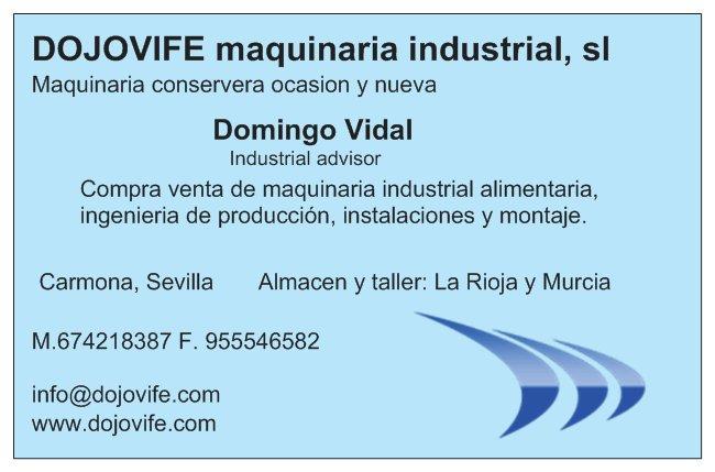 Compra venta maquinaria conservera y industrial, contribución de maquinaria nueva, mejoras en continuo, lean manufacturing, mantenimiento integral.