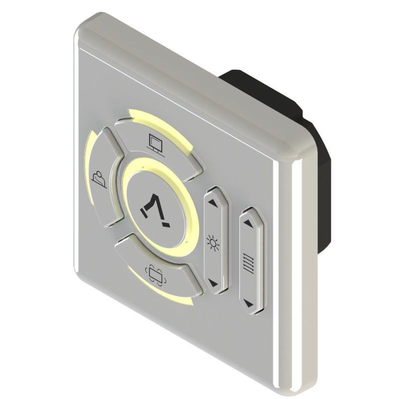 Schalter für die Bedienung von Storen, und weiteren Funktionen für verschiedene Belichtungstechniken in Arbeitsräumen.