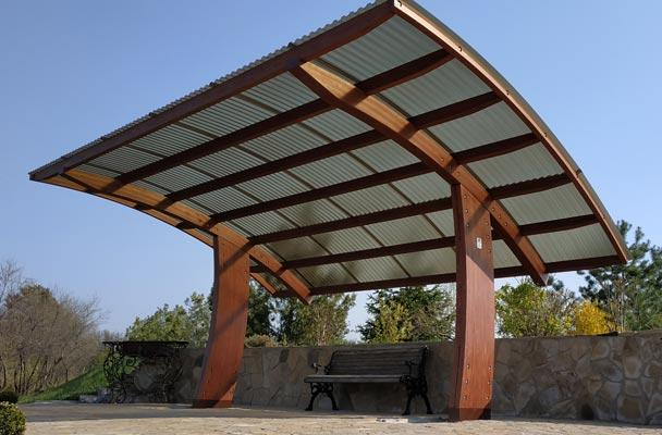 wooden canopies