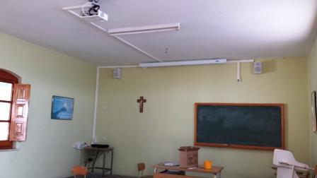 Installation multimedia classroom. Reconditioning old classroom, new multimedia classroom.