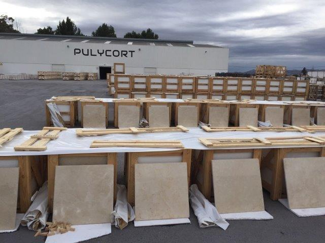 Our level of commitment is such that we do not hesitate to open our finished marble crates for inspection of our new clients. THANK YOU or trusting in PULYCORT!!,Without you this would not be possible