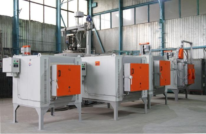 Chamber furnaces in the workshop of the manufacturer Bortek
