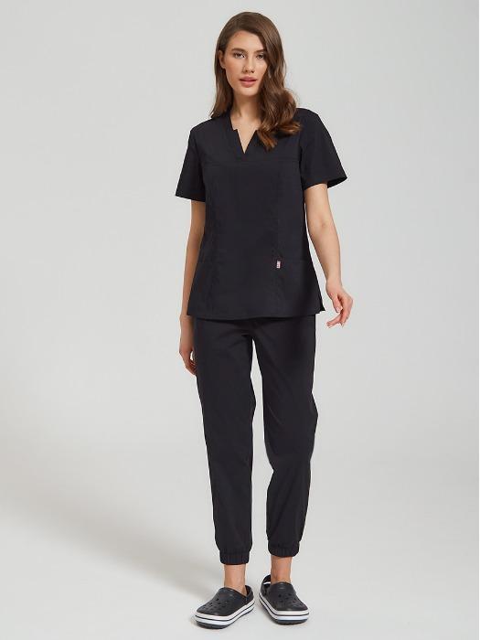 Calypso women's scrubs black