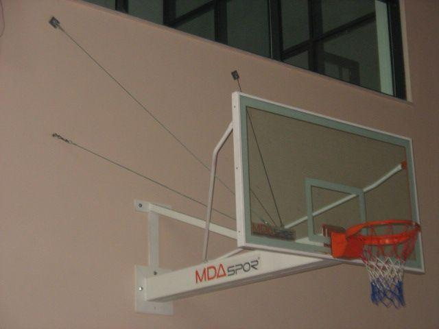It is a group of basketball hoop having extension of between 0 and 2 meters as anchoraged to the Wall.Glass backboard and stable hoop is used in the basketball hoop.
