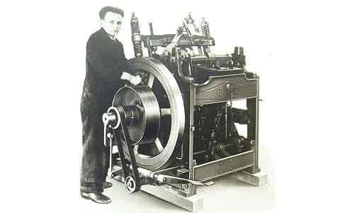 Buchrunde- und Abpressmaschine 1950
