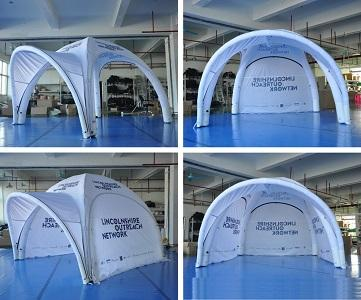 Inflatable 4x4m pneumatic tent