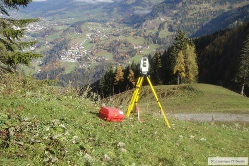 Messung im Gebirge
