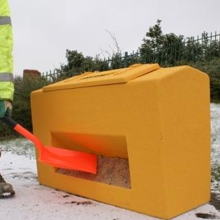 Our range of Grit Bins consists of three materials ultra tough glass fibre, heavy duty glass fibre & polythene grit bins. All models are available with closed or open front.