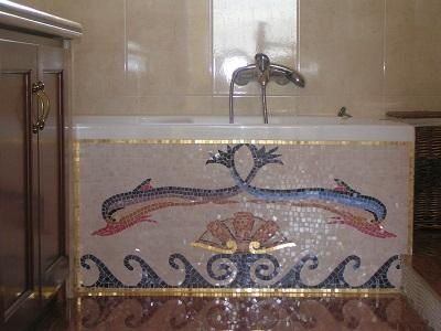 Glass Mosaic with dolfins