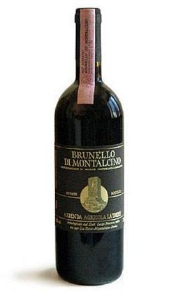 Uve da cui è prodotto: Sangiovese varietà Brunello. Invecchiamento: 42 mesi in botti di 39 quintali di rovere di Slavonia; soltanto una parte, 17% circa, passa un periodo di 12 mesi in barrique.