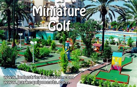 Our animated miniature golf is composed of 18 fairways in prefabricated sections that are joined together on site with a special connector and laid on a level surface on which are placed the obstacles