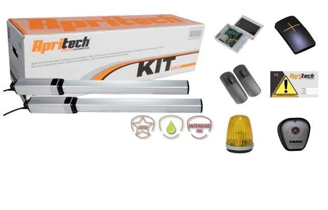 Kit Apritech di motori idraulici per cancelli a due ante battenti con anta max 2mt e peso di 400Kg.