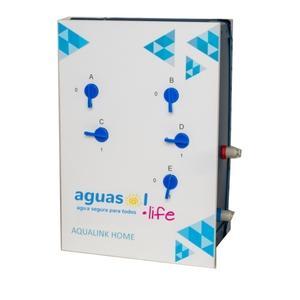 Purificadora 0.01µm - hasta 300L/hora con membranas de Ultrafiltración / Filtro de carbón activado - no requiere energía - presión de uso max. entrada 5bar / 72 psi