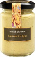 French mustard with fig, moutarde à la figue.