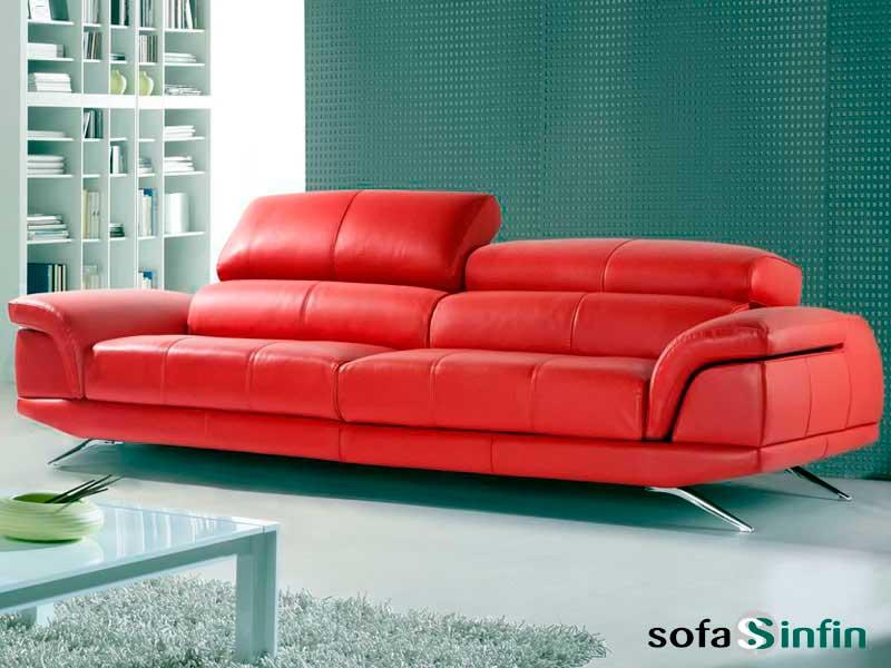 Sofas modern upholstered in leather and fabric