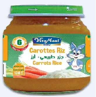 VITAMEAL BABY HALAL jars are an infant food of high nutritional value adapted to feeding babies from the age  of 6 months. Flavors : Green beans, Carrots & Rice, Vegetables' medley. Glass jars of 130g