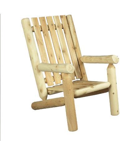 Seat outdoor armchair in solid wood cedar & logs