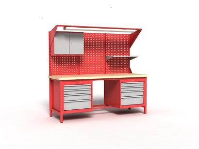 Reinforced frame is made of full profiles 40 x 20, which are 1.50 [mm] thick, and 40 x 40 which are 2.0 [mm] thick, - table top is made of plywood 40 mm thick