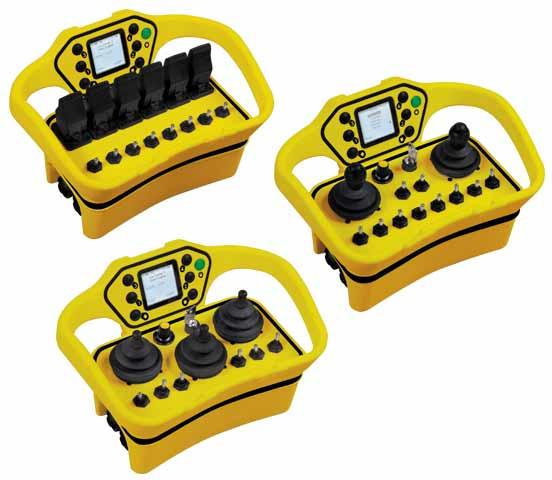 Modular, multifunction, bidirectional, display, 1 to 6 joysticks/levers, 4 to 17 buttons, safety stop SIL3 and PLe, configurable