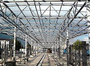 Stahlbau Busbahnhof / Herne