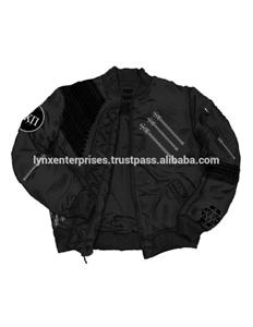 Custom Design Bomber Jacket Made of Micro Fabric Filled with wool 3/m Reflective