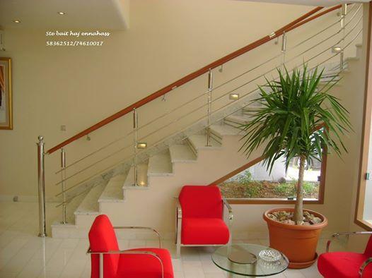 rampe d'escalier en inox sur mesure