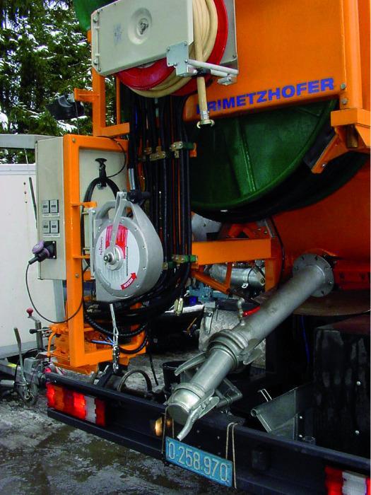 Höhensicherungsgerät am Putzwagen