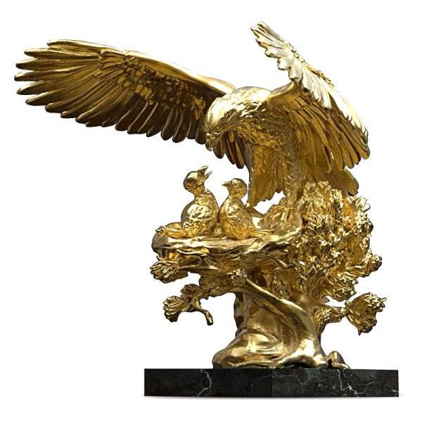 ANATOLIOS - Eagle Nest Golden Sculpture