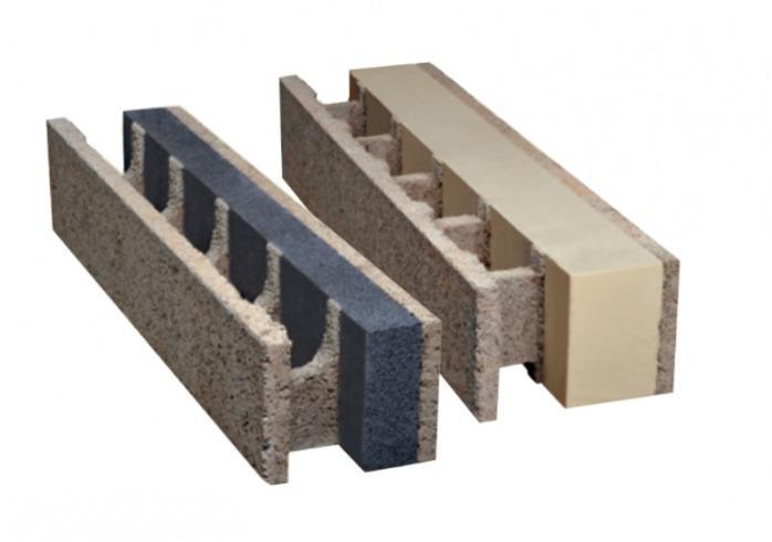 Steine mit integrierter Wärmedämmung