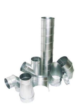 gaine de ventilation en tôle galvanisé et accessoires aéraulique
