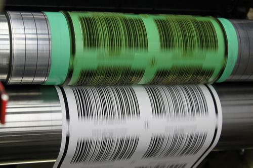 Flexodruck EAN128 Barcode-Etiketten