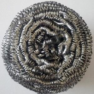 example of our production. metal spiral scourer made of stainless steel 430