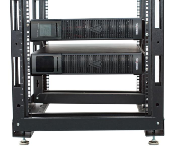 FL111-3kVA + battery cabinet front + in rack