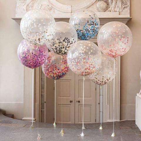 MEGA latex Ballonnen gevuld met Confetti
