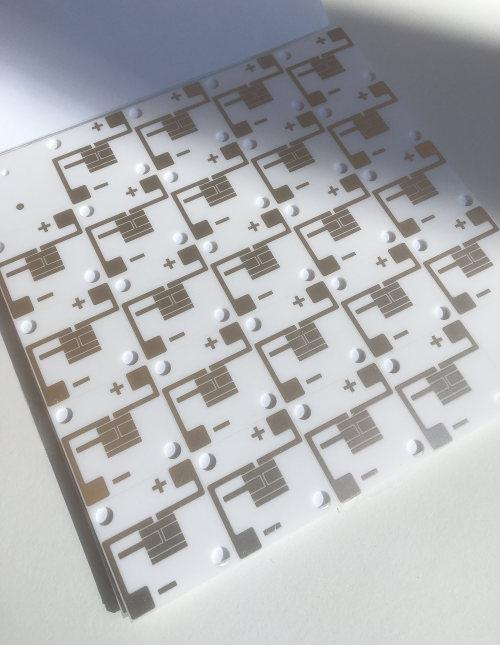 Small circuit on a post fired ceramic alumina board for a lighting application. 20% improved performance measured versus metal core plus increase reliability