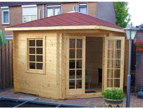 Cabin Garden shed of highgrade Scandinavian wood Mansfield, FSC certification, incl. floor